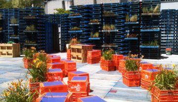 Pallet Recycled Pavilion Architecture