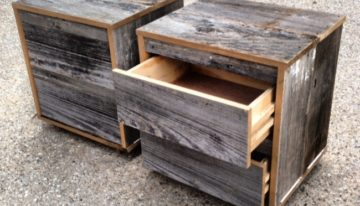 Recycled Pallet Bedside Tables