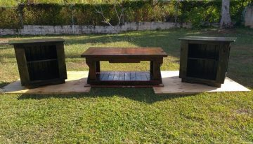 Custom Made Pallet Coffee Table and Nightstands