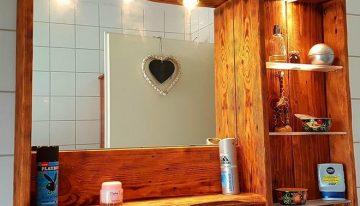 Pallet Mirror Cabinet
