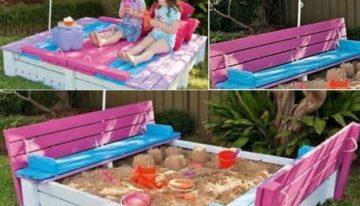 DIY Pallet Fold Up Sand Pit