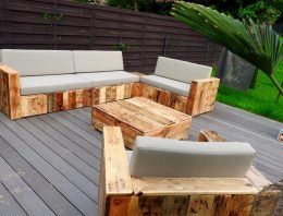 Beautiful Pallet Wood Patio Furniture