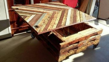 Upcycled Pallet Table with Storage