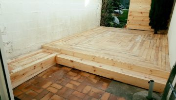 DIY Pallet Outdoor Flooring