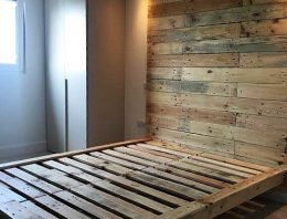 Recycled Pallet Bed Frame with Headboard